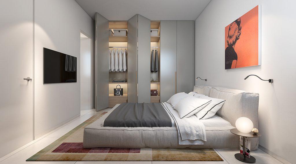 חדר שינה - דירת 5 חד' טיפוסית